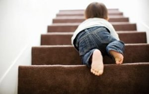 Child climbing stairs image